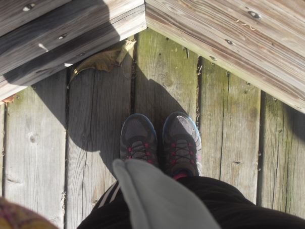 My feet at Riverside Park